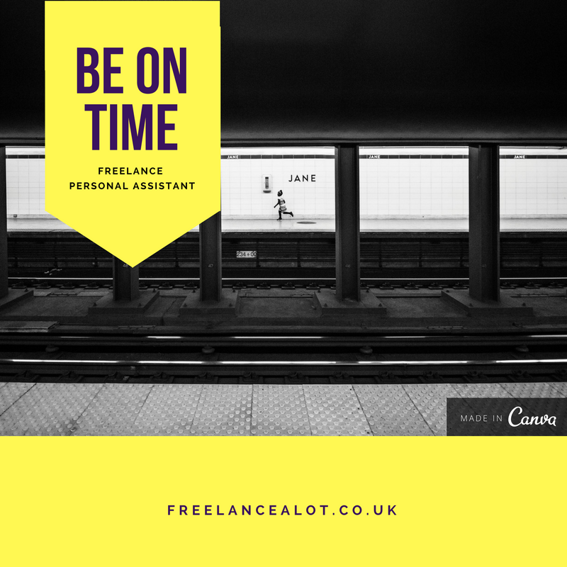 Be on Time, Freelance Personal Assistant